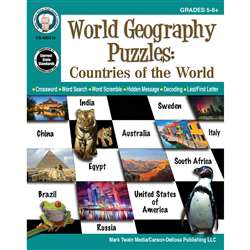 Countries Of The World Puzzle Gr 5-12 World Geogra, CD-405015