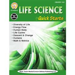 Life Science Quick Starts Gr 4-9, CD-405016