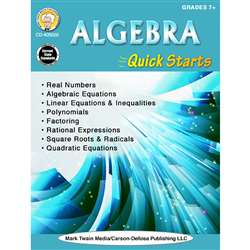 Algebra Quick Starts Gr 7-12, CD-405020