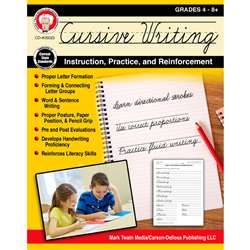 Cursive Writing Instruct Practice N Reinforcement, CD-405023