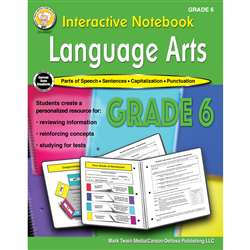 Language Arts Workbook Gr 6 Interactive Notebook, CD-405027