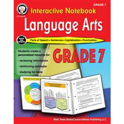 Language Arts Workbook Gr 7 Interactive Notebook, CD-405028