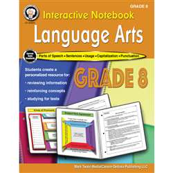 Language Arts Workbook Gr 8 Interactive Notebook, CD-405029