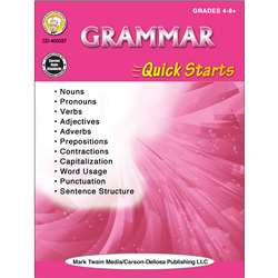 Grammar Quick Starts Workbook, CD-405037