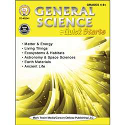 General Science Quick Starts Workbk, CD-405041
