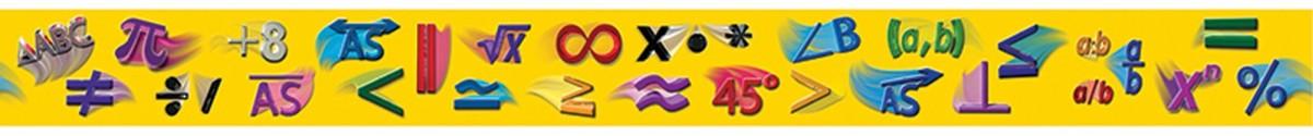Math Symbols Border Gr 5 8 Straight Cd 408006 Carson Dellosa Border
