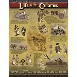 Life In The Colonies Chartlet By Carson Dellosa