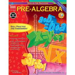 Pre-Algebra Skills For Success By Carson Dellosa