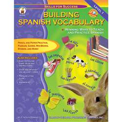 Building Spanish Vocabulary Grade Pk-12 By Carson Dellosa