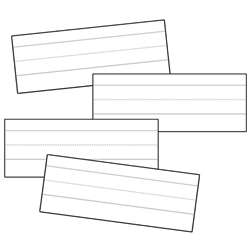 Word Strips Lined White 100/Pk 3X8 By Carson Dellosa