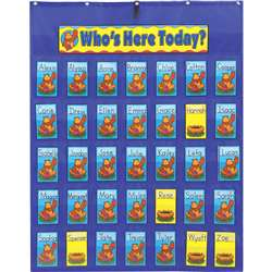 Attendance/Multiuse Pocket Chart W/ 35 Cards By Carson Dellosa