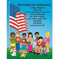 Chartlet The Pledge Of Allegiance 17 X 22 By Carson Dellosa