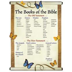 Chartlet The Books Of The Bible 17 X 22 By Carson Dellosa