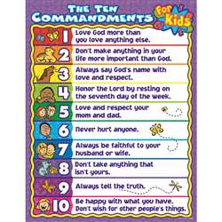 The Ten Commandments For Kids By Carson Dellosa