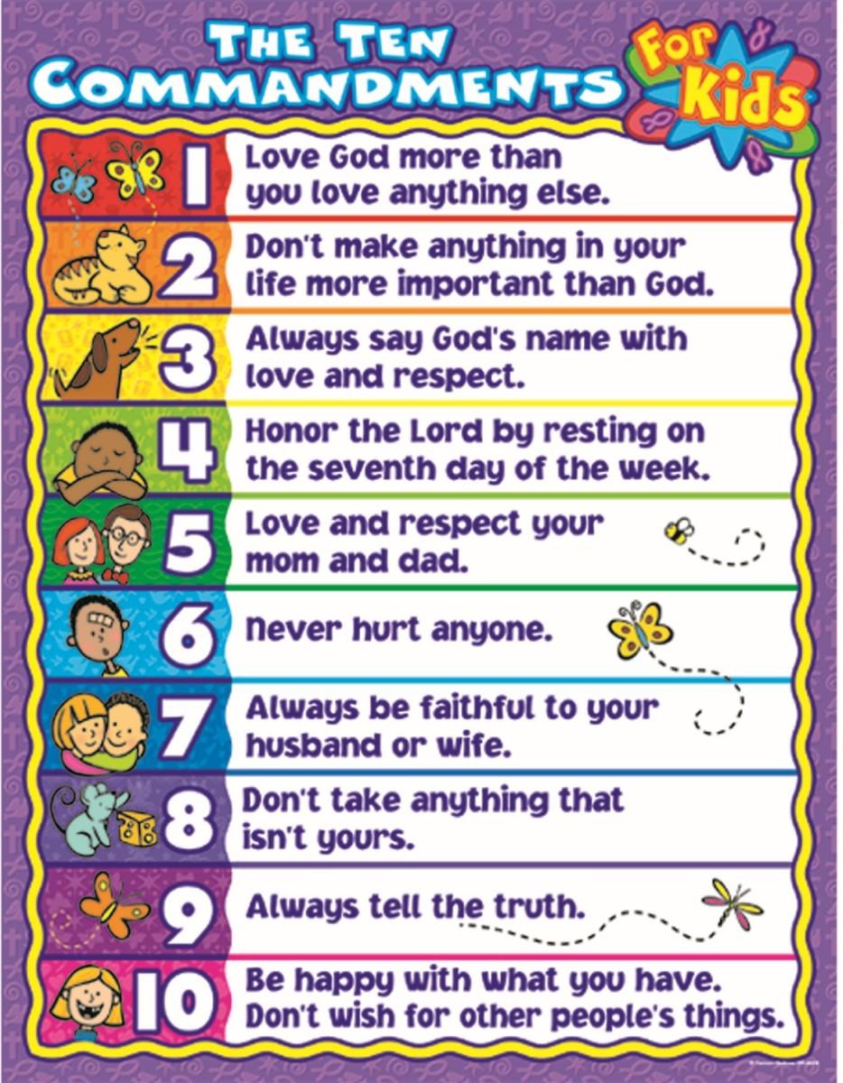 For kids commandments 10 10 Commandments