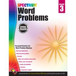 Spectrum Gr3 Word Problems Workbook, CD-704489
