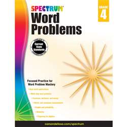 Spectrum Gr4 Word Problems Workbook, CD-704490