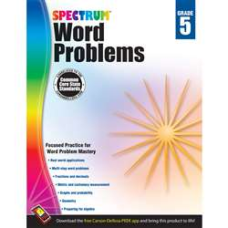 Spectrum Gr5 Word Problems Workbook, CD-704491