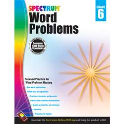 Spectrum Gr6 Word Problems Workbook, CD-704492
