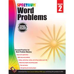 Spectrum Gr2 Word Problems Workbook, CD-704495