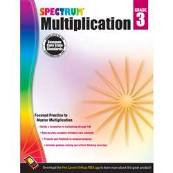 Spectrum Gr3 Multiplication Workbk, CD-704507