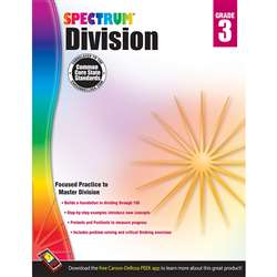 Spectrum Gr3 Division Workbook, CD-704508