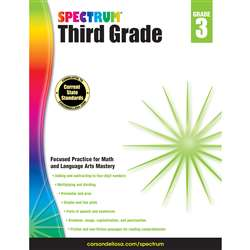 Spectrum Gr 3 Math And Language Arts Mastery, CD-704653