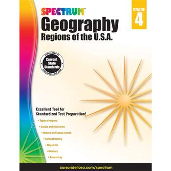 Spectrum Geography Regions Of The Usa Gr 4, CD-704659