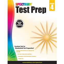 Spectrum Test Prep Gr 4, CD-704684
