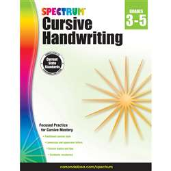 Spectrum Cursive Handwriting Gr 3-5, CD-704692