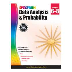 Spectrum Data Analysis Probability Gr 6-8, CD-704705