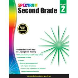Spectrum Gr 2 Math And Language Arts Mastery, CD-704871