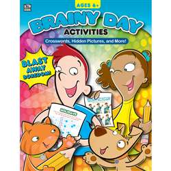 Brainy Day Crosswords Hidden Pics And More Ages 6 , CD-705033