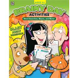 Brainy Day Word Searches Mazes And More Ages 6 - 8, CD-705034