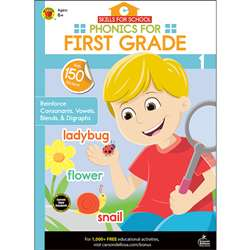 Phonics For First Grade Skills For School, CD-705312
