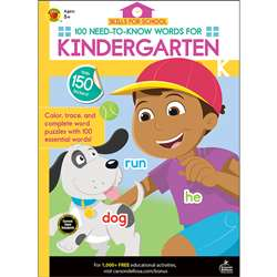 100 Need-To-Know Words Kindergarten Skills For Sch, CD-705316