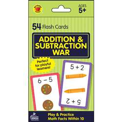 Add & Subtract War Flash Cards, CD-734083