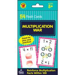 Multiplication War Flash Cards, CD-734084