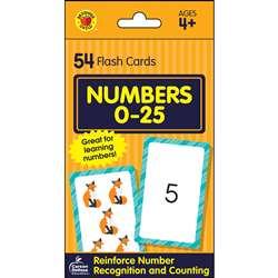 Numbers 0-25 Flash Cards, CD-734085