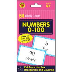 Numbers 0-100 Flash Cards, CD-734086