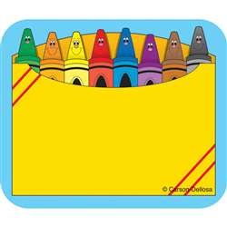 Crayon Box Name Tags Self-Adhesive 40 Ct By Carson Dellosa