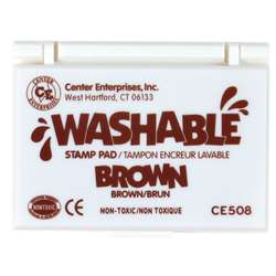 Stamp Pad Washable Brown By Center Enterprises