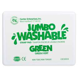 Jumbo Stamp Pad Green Washable By Center Enterprises