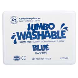 Jumbo Stamp Pad Blue Washable By Center Enterprises