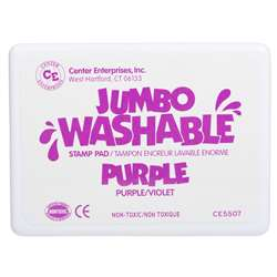 Jumbo Stamp Pad Purple Washable By Center Enterprises