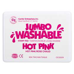 Jumbo Stamp Pad Hot Pink Washable By Center Enterprises