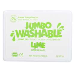 Jumbo Stamp Pad Lime Green Washable By Center Enterprises
