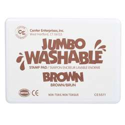 Jumbo Stamp Pad Brown Washable By Center Enterprises
