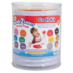 Jumbo Circular Washable Pads Craft Kit By Center Enterprises