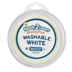 Jumbo Circ Washable Stamp Pad Wht, CE-6624